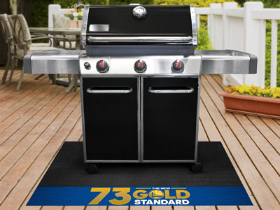 "NBA - Warriors 73 Grill Mat 26""""x42"""""